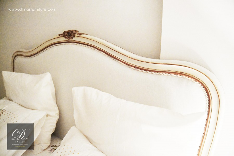 TOTAL WHITE PATINA SMALL - FRENCH BED - DIMAS